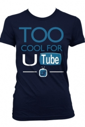 too cool for U tube (girls navy)