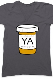 YA Is My Drug (Dark Gray V-Neck)