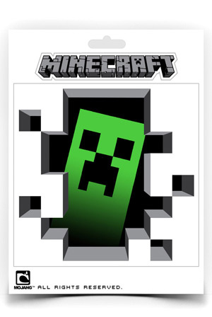 Creeper Inside Sticker