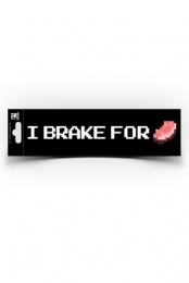 I Brake for Porkchop Bumper Sticker