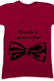 Marked as Cute! Unisex Bow Tee