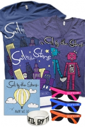 Robot Love V-Neck, City Lights T-Shirt, Away We Go CD, Signed Poster, Wristband, Sunglasses + Instant Download of Cross My Heart
