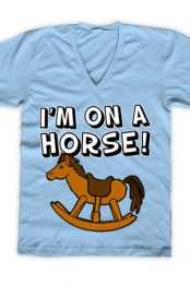 I'm on a Horse (Blue V-Neck)