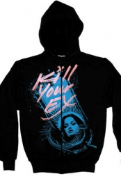 Blue Lady Zip-Up Hoodie (Black)