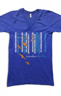 Landon V-Neck (Blue)