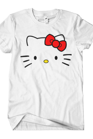 Unisex hello kitty tee hello kitty toon town hello kitty for Hello kitty t shirt design