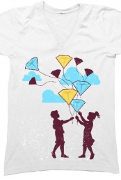 Balloons (white v-neck)
