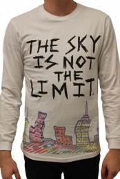 THE SKY IS NOT THE LIMIT (unisex white slim fit long sleeve)