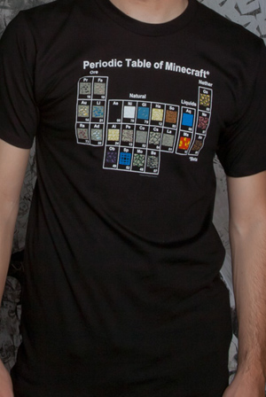 Periodic Table T Shirt Minecraft T Shirts Online Store On