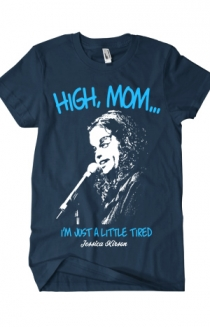 High Mom (Navy w/ Teal Ink)