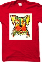 Puppy Dog RED t-shirt