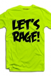 Let's Rage Logo (Yellow Neon)