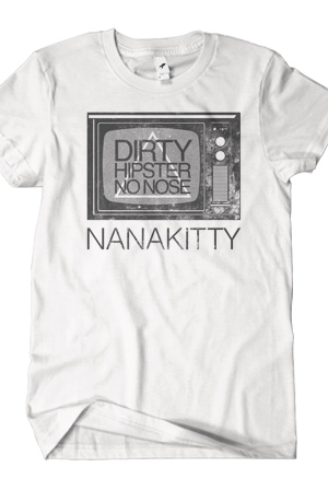 Dirty Hipster No-Nose (White)