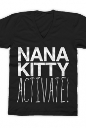 Nanakitty Activate! (Black V-Neck)