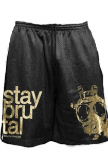 Stay Brutal Gold Foil Shorts (Black)