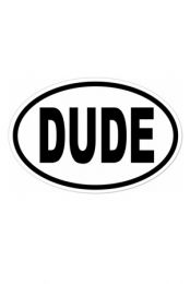DUDE Sticker