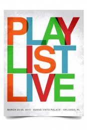 Playlist Live 2012 Poster (White)