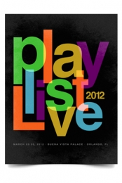 Playlist Live 2012 Poster (Black)