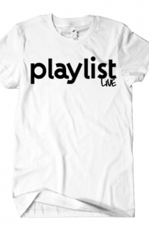 Playlist Live Logo T-Shirt (White)