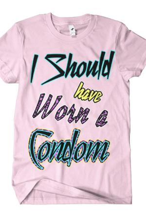 Condom (Light Pink) T-Shirt - Bart Baker T-Shirts - Online Store ...