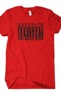 Parental Advisory (Black on Red)
