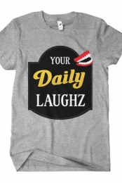 YourDailyLaughz Logo Tee (Heather Grey)
