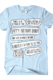 Happy Birthday Randy (Light Blue)