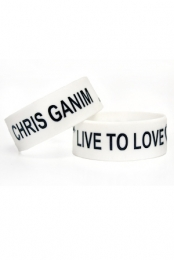 Live to Love Wristband (White)