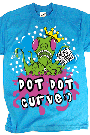 Alien (Teal) from dot dot curve