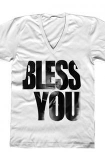 Bless You (White V-Neck)
