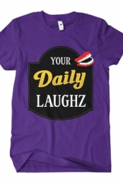 YourDailyLaughz Logo Tee (Purple)