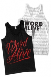 Striped Logo Tank + Cursive (Tank Top)