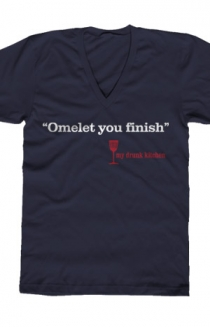 Omelet You Finish V-Neck