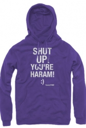 Shut Up Hoodie (Purple)