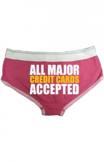 Credit Cards Undies (Fuchsia)