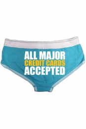 Credit Cards Undies (Teal)
