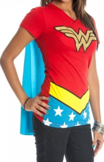 Wonder Woman Cape V-Neck