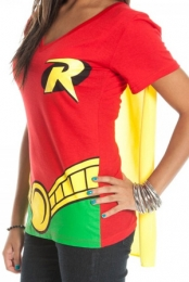 Batman and Robin Cape V-Neck