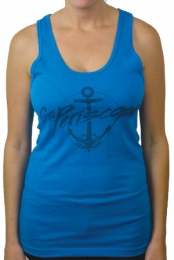 Anchor Tanktop (Neon Blue)
