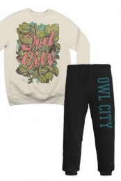 College Sweatpants + Leaves Crewneck