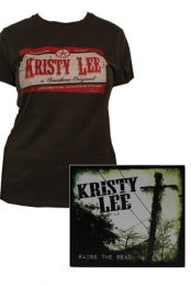 RTD Womens Tee (Brown) + Raise the Dead CD