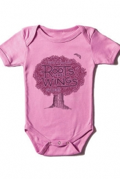 Roots & Wings Infant Bodysuit (Pink)