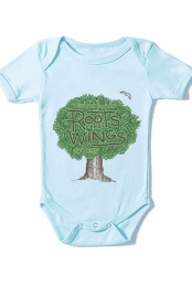 Roots & Wings Infant Bodysuit (Light Blue)