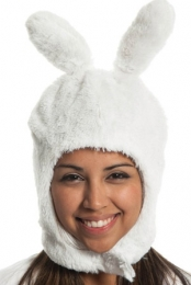 Fiona White Mascot Knit Hat