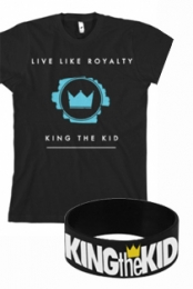 Live Like Royalty (Black) + Wristband