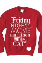 Lonely Movie Night Sweater