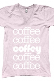 Coffee Coffey  V-Neck