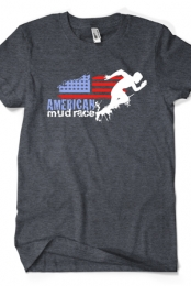 American Mud Race Logo Tee (Heather Charcoal)