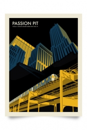 Passion Pit at Madison Square Garden Poster