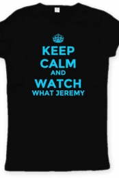 Keep Calm and Watch What Jeremy Black Women's Tee